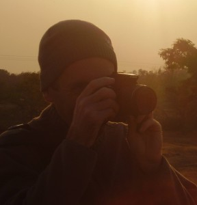 Pete on a photography in India.