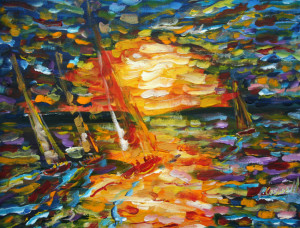 Sailing Painting For Sale Yachts Sailing Sunsets
