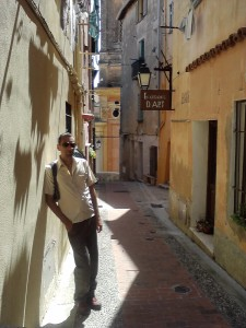 Pete taking a break from Painting in the South of France