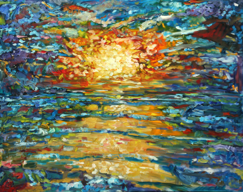 New large sunset painting for sale pete caswell for Large art for sale