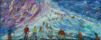 Tignes and Val D'Isere Grande Motte Skiing Snowboarding painting for sale