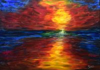 Ocean Sunset painting for sale