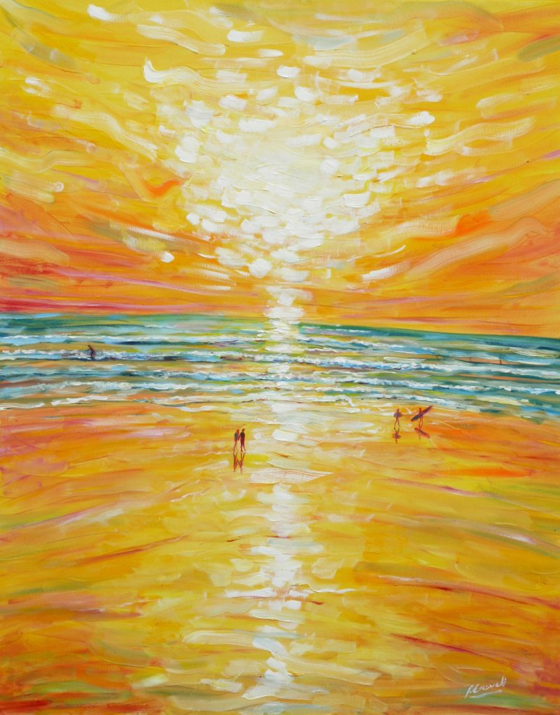 Large paintings for sale from saunton sands beach and for Large art for sale