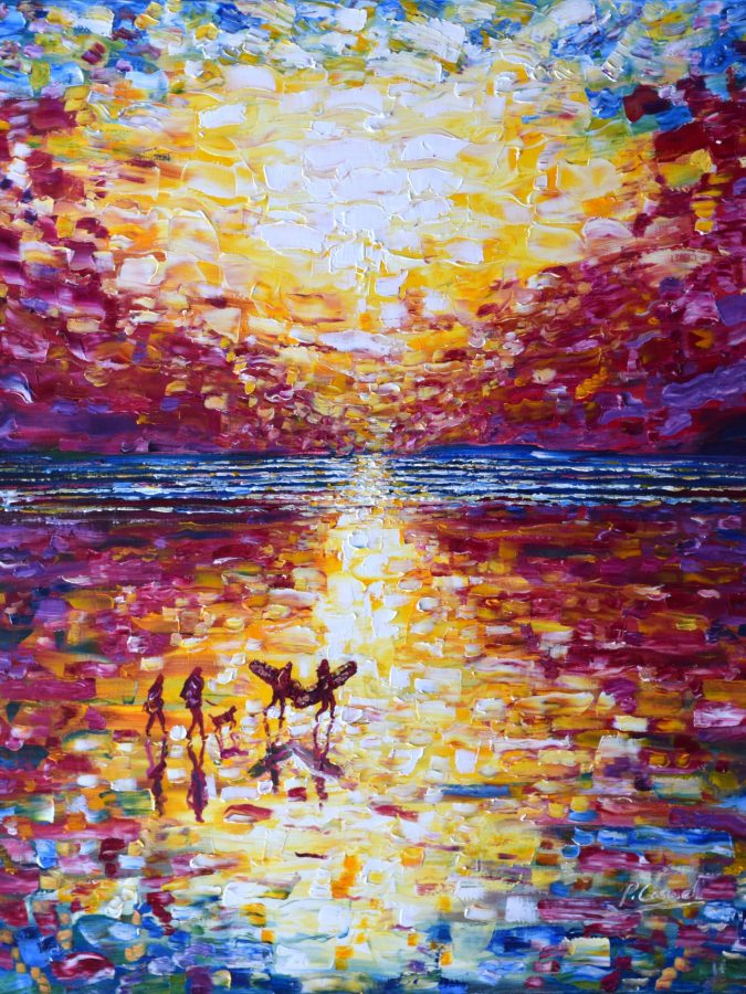 Ocean Sunset Print For Sale