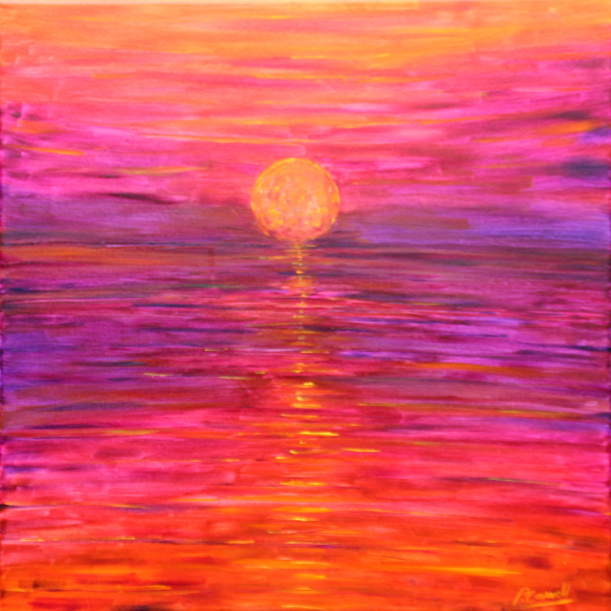 Putsborough beach sunset painting for sale