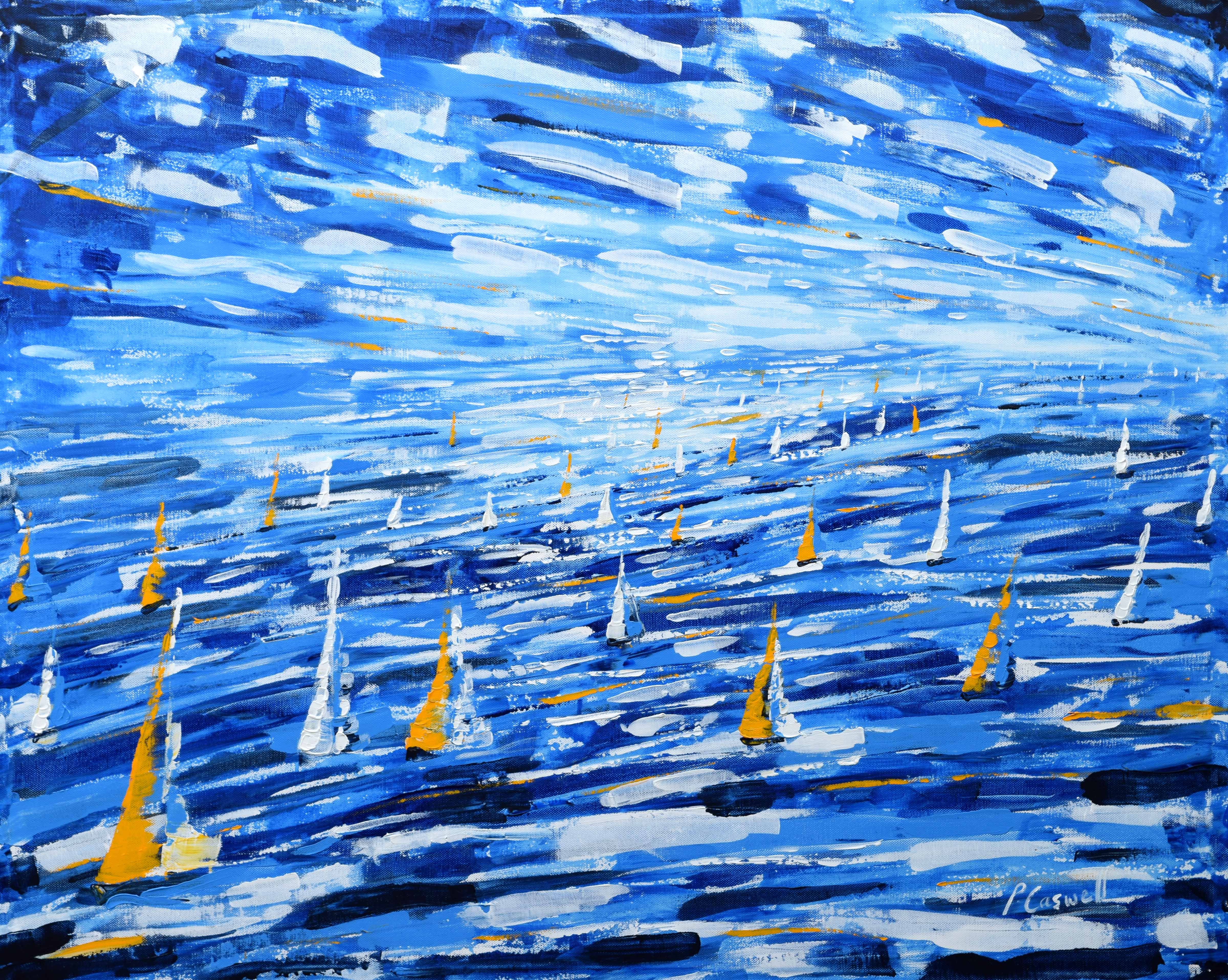 Large Sailing Painting For Sale