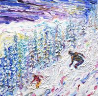 Ski Snowboard Paintings