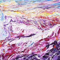 Les Arcs and La Plagne, Paradiski Skiing and Snowboarding paintings and prints collection