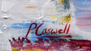 p caswell signature on a painting