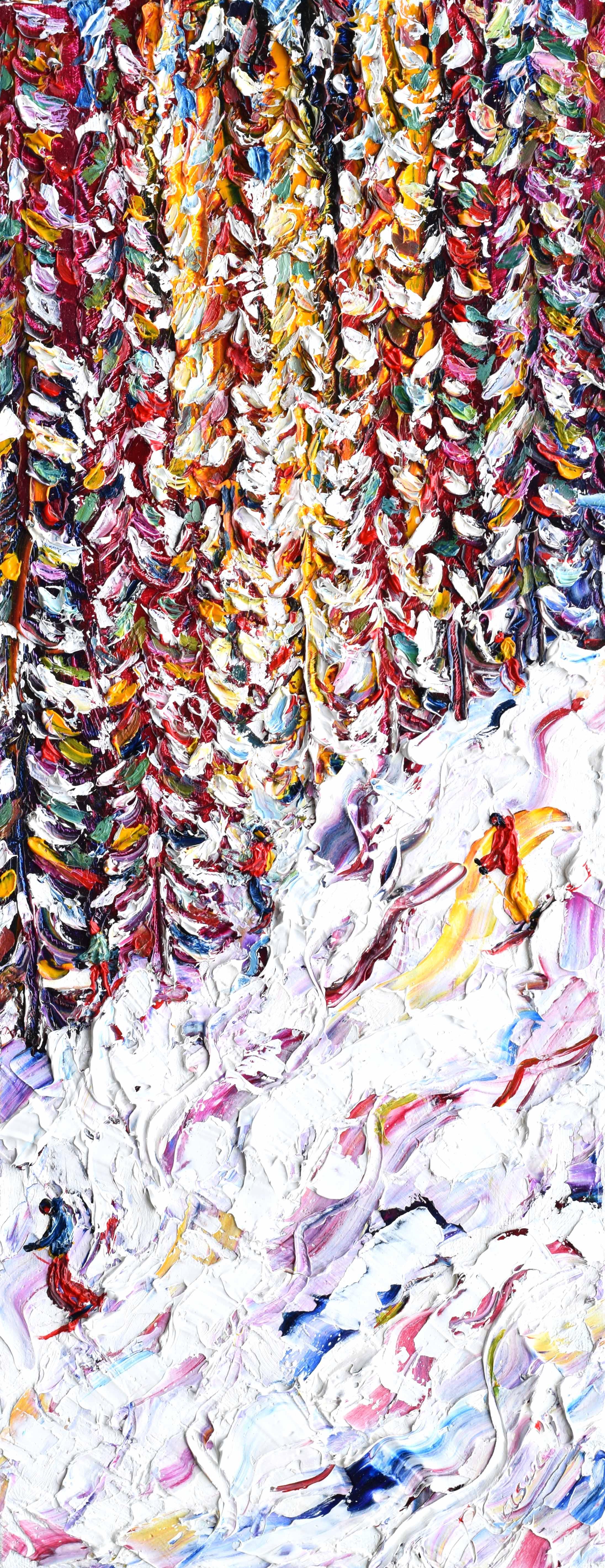 Celerina Ski Painting St Moritz