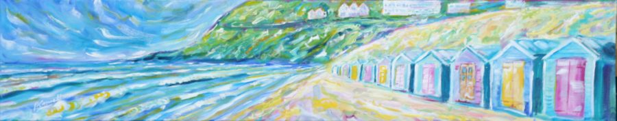 Saunton Beach Huts Paintings For Sale