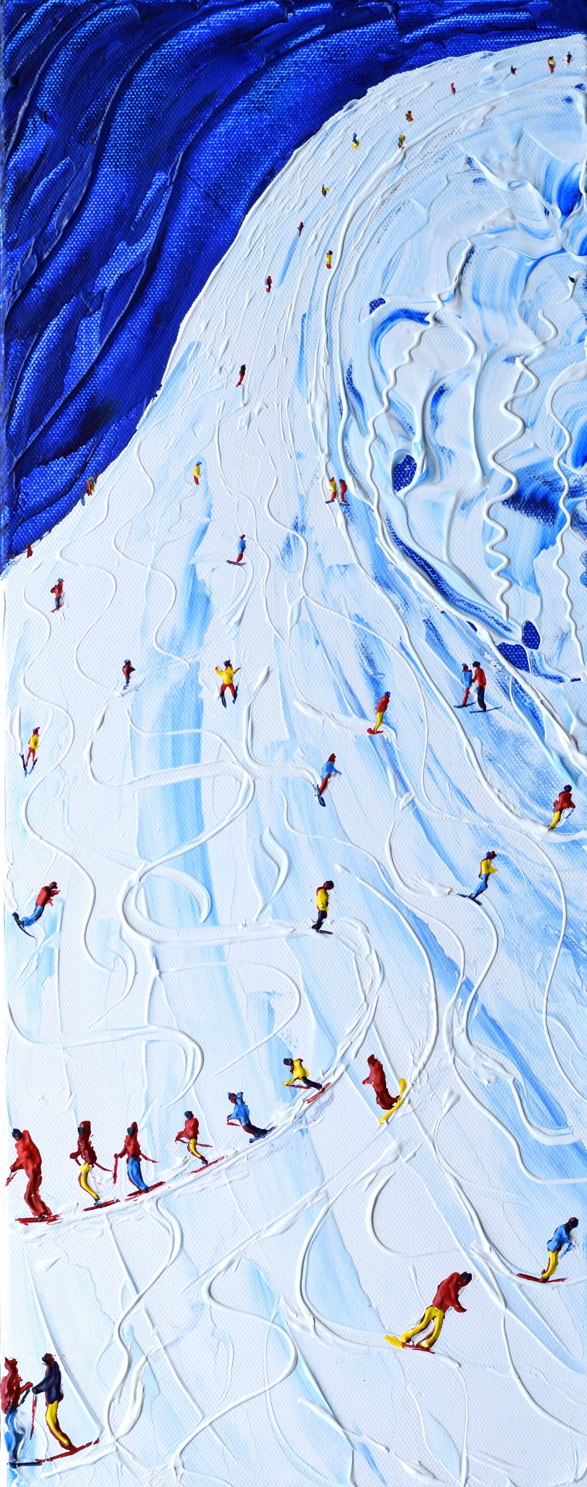Winter vintage ski print Tignes Val d'Isere