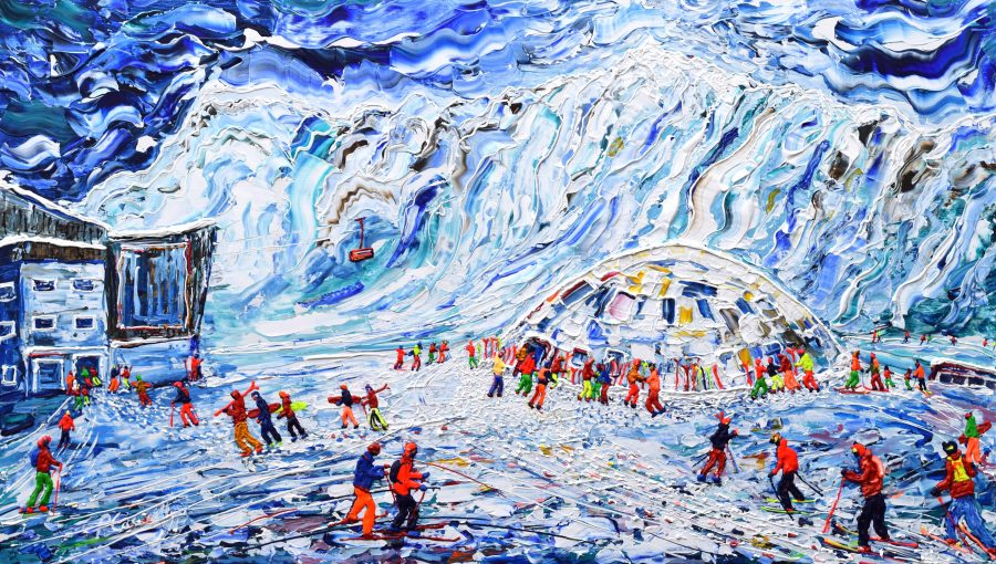 Mt Fort To The Top Verbier Ski Painting