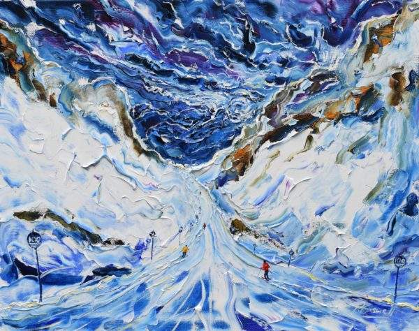 St Anton Winter Ski painting