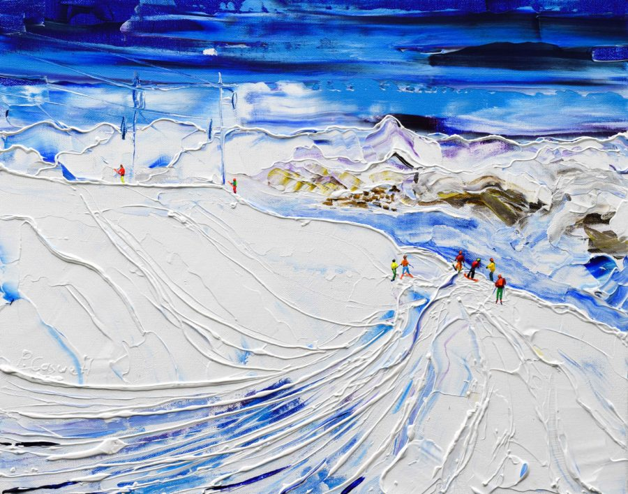 Above Avoriaz and Morzine painting