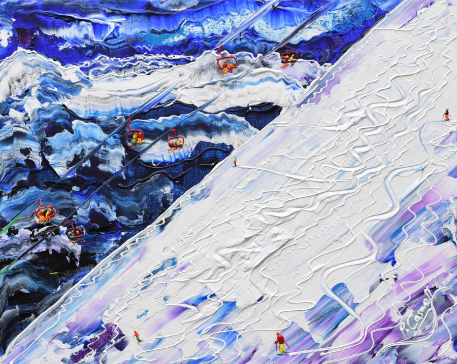 Avoriaz The Wall Skiing painting