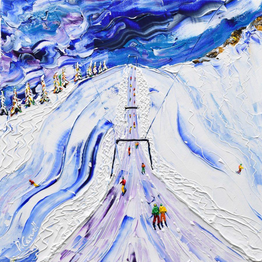 Portes Du Soleil Skiing Painting