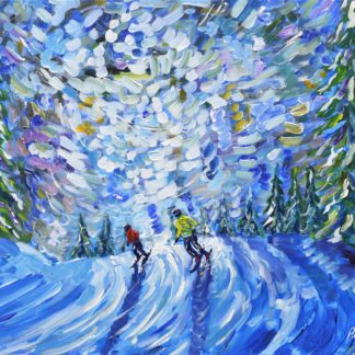 Les Gets Pistes Painting