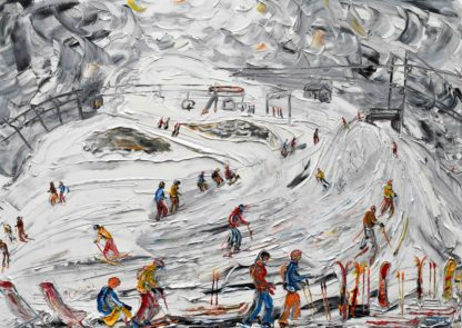 Avoriaz Swiss Wall Ski Painting