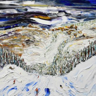 Avoriaz Portes Du Soleil Ski Painting