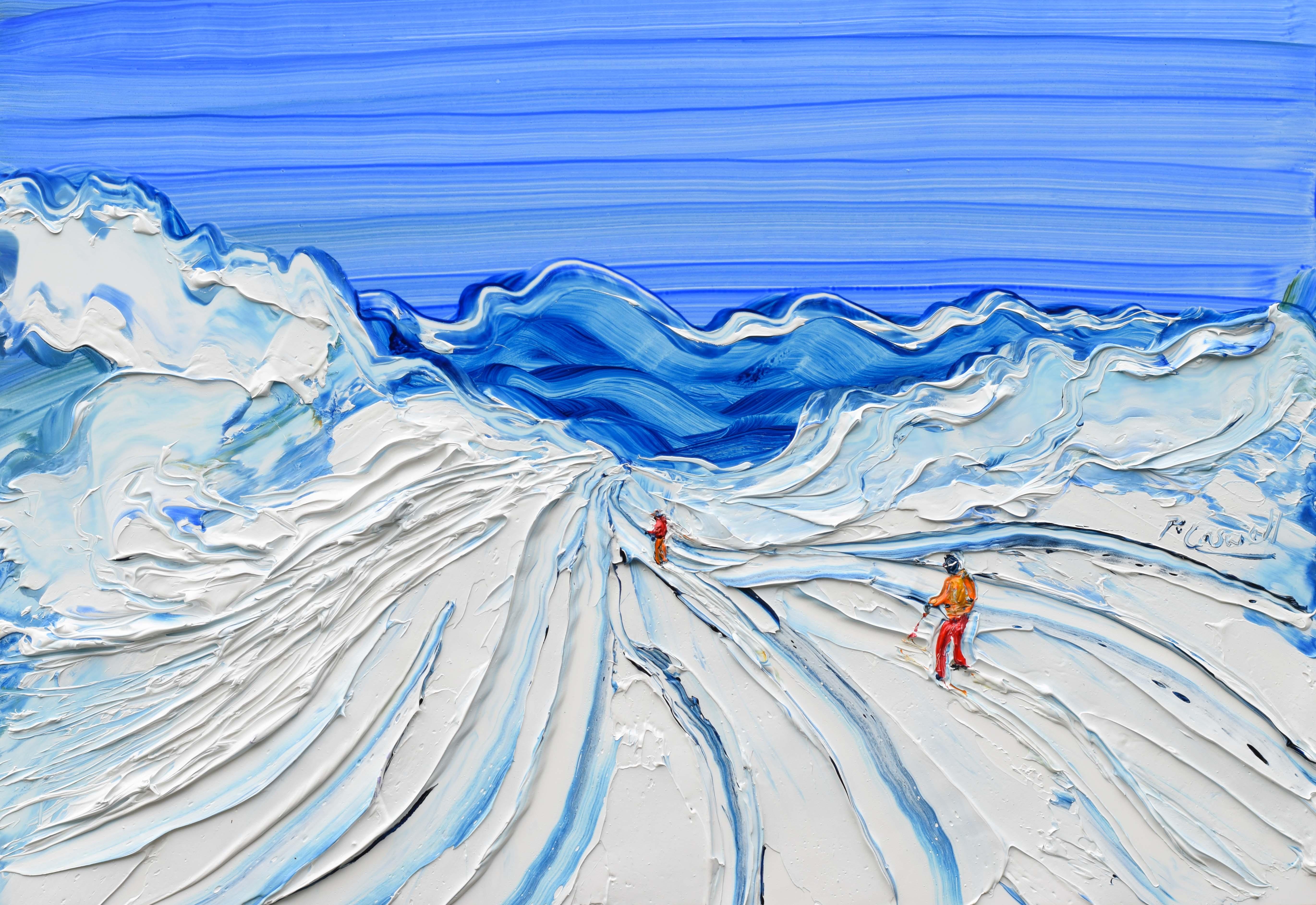 La Plagne off piste painting