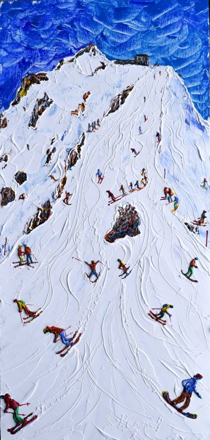 Three Valleys Skiing Painting