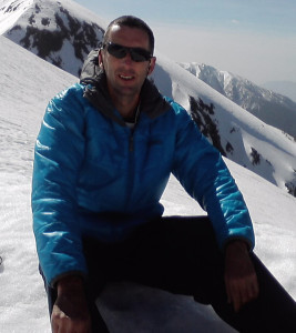 Pete Caswell in the French Alps