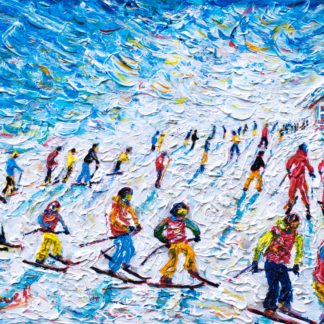 Val d'Isere Ski Painting and Ski Print