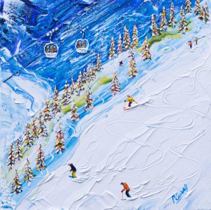 Val d'Isere Ski Painting and Ski Print