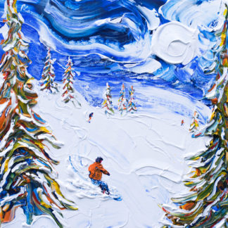 Meribel Ski Painting 3 valleys