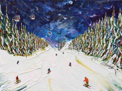 Courchevel Ski Poster Ski Painting