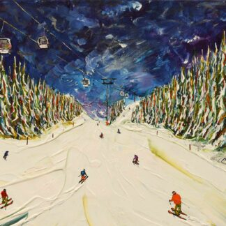 Courchevel Ski Print