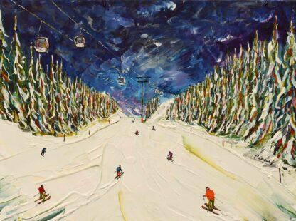 Courchevel Ski Print