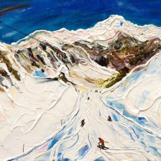 Saulire Courchevel Ski Painting