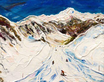 Saulire Courchevel Ski Painting