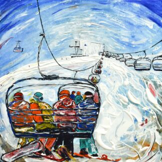 Tignes and Val d'Isere Ski Painting and Ski Poster