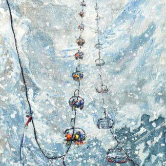 Tignes Val d'isere Ski Lift vintage ski poster