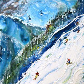 Val d'Isere La Face Vintage Ski Poster