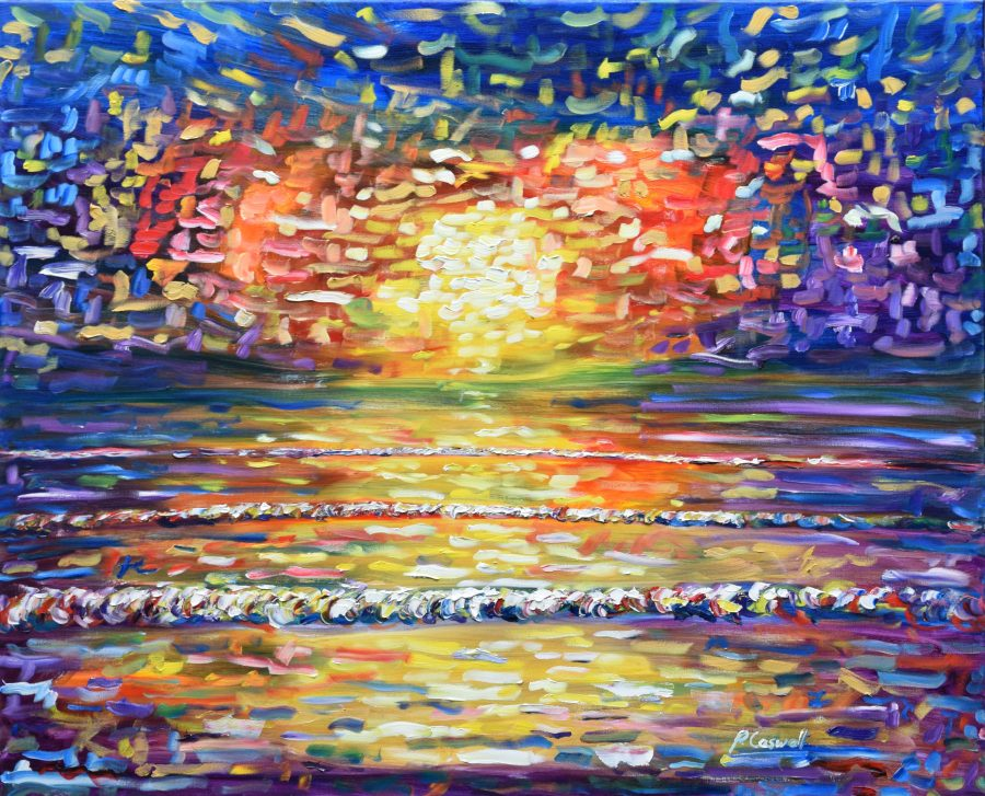 Large Sunset Painting Print For Sale