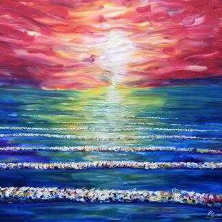 Woolacombe Sunset Painting