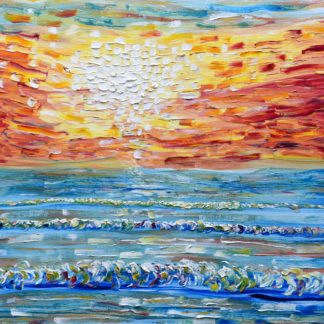 Large sunset painting for sale