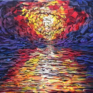 sunset oil painting for sale