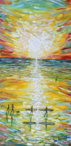Croyde sunset painting for sale