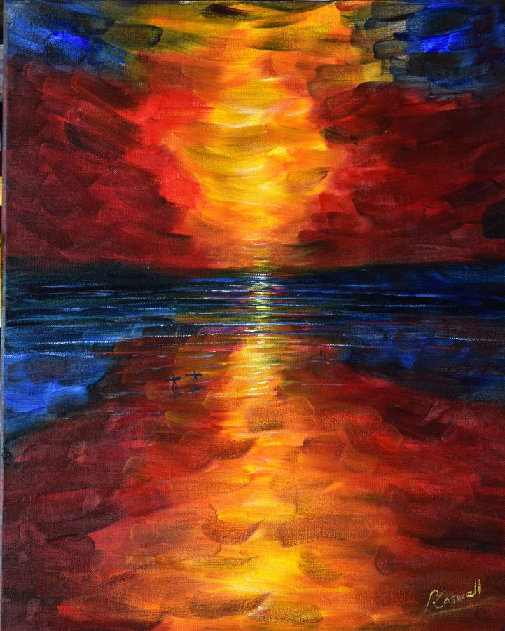 Sunset Painting For Sale Croyde