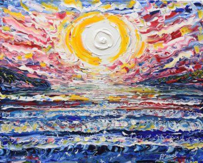 Treyarnon Bay Painting Cornwall