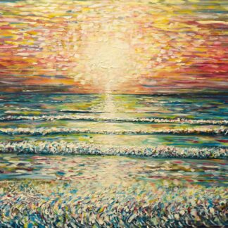 Sunset Oil Painting from Woolacombe