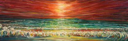Sunset Painting at Saunton Beach