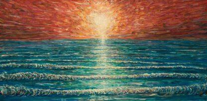 Saunton Sunset Beach Painting