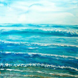 Putsborough surf painting for sale