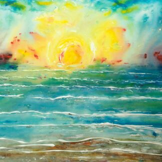 Croyde Sunset Painting